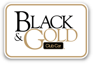 2014 Black Gold Button - Club Car Remanufactured Vehicles